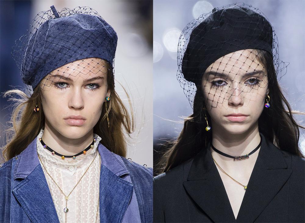 Модные береты Christian Dior