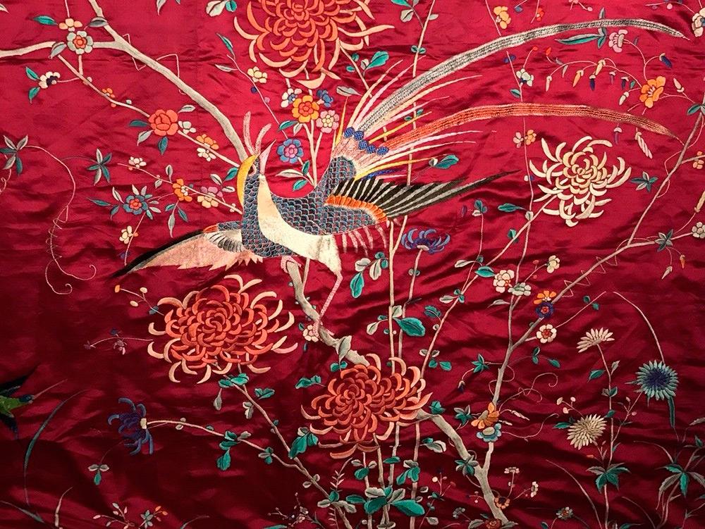 Китайская вышивка шелковыми нитками
