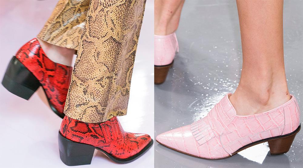 Туфли с ковбойским каблуком