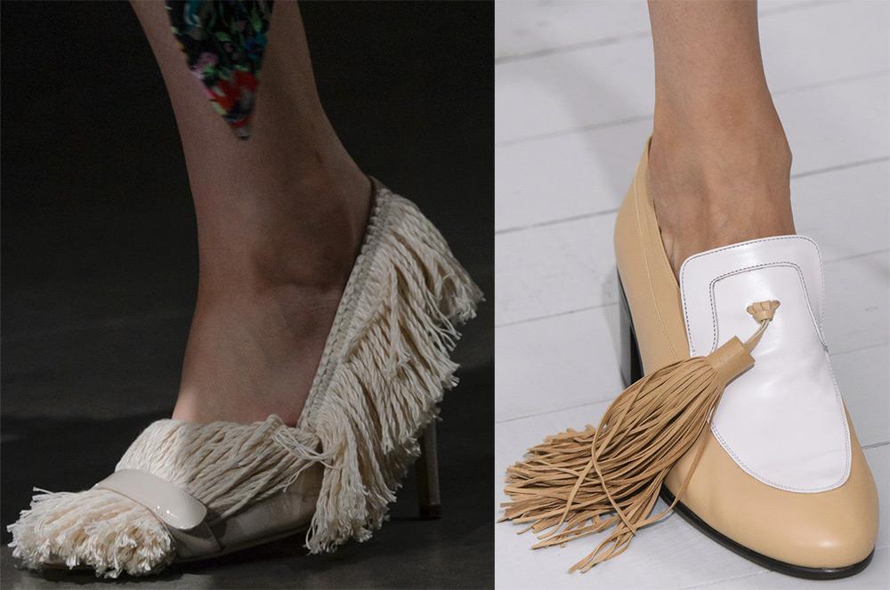 Женская обувь с бахромой