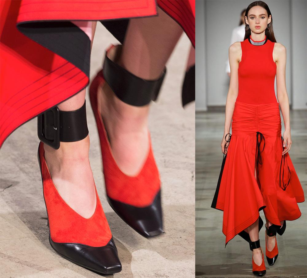 Красно-черные туфли