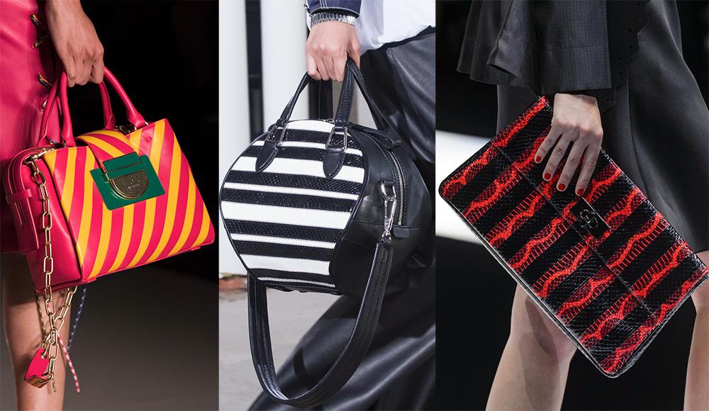 Модные сумки в полоску