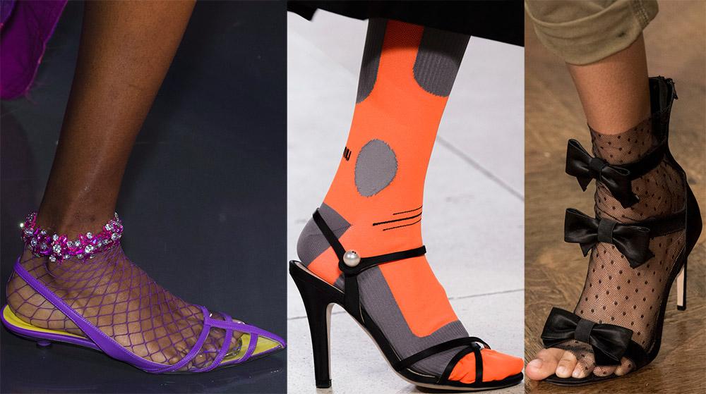 Модные босоножки на каблуке 2018