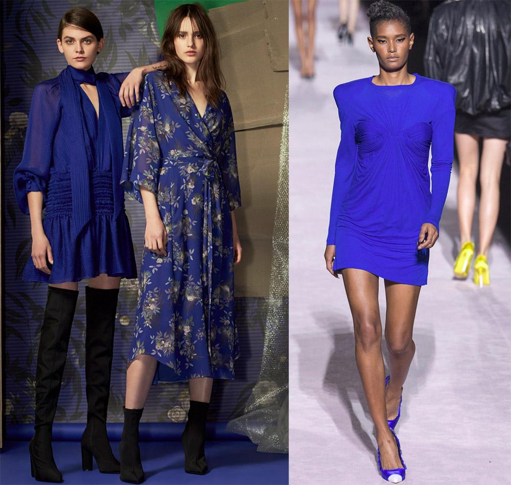 Красивые синие платья