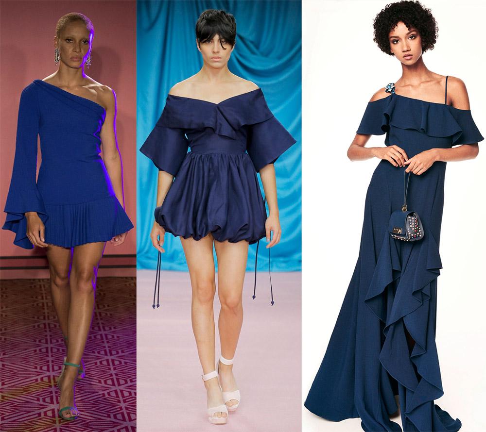 Синее платье 2018 года