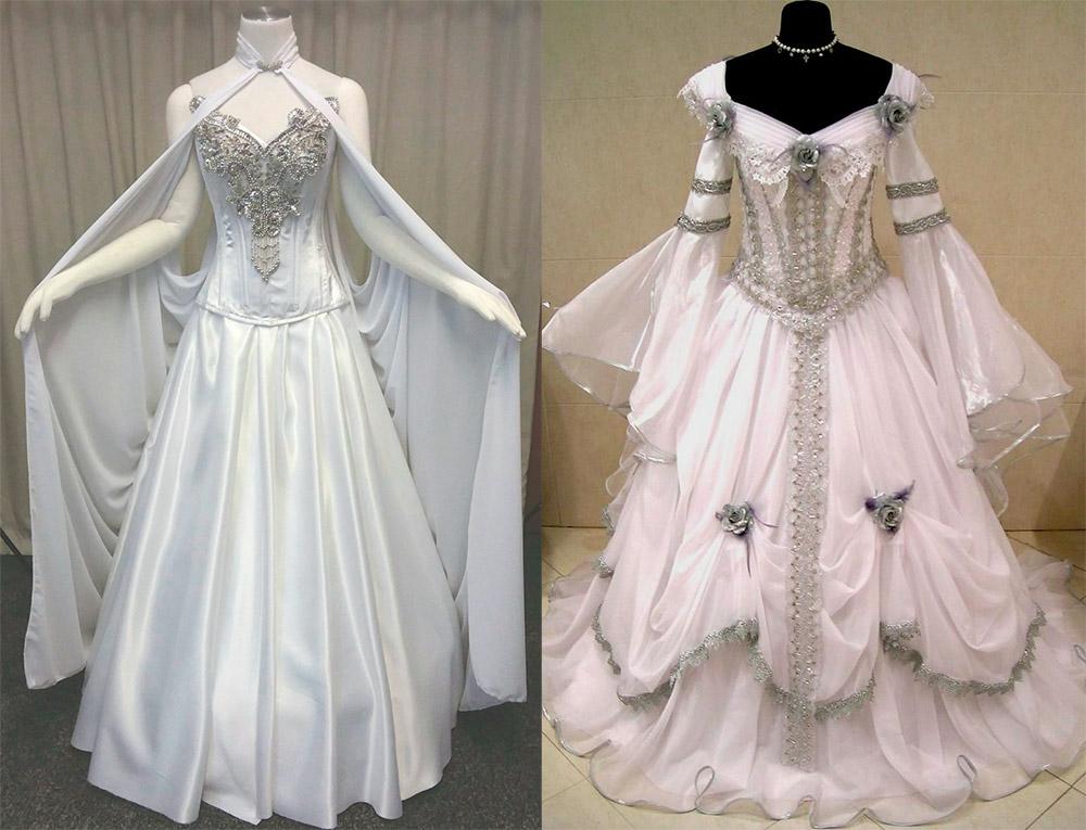 Свадебное платье в средневековом стиле