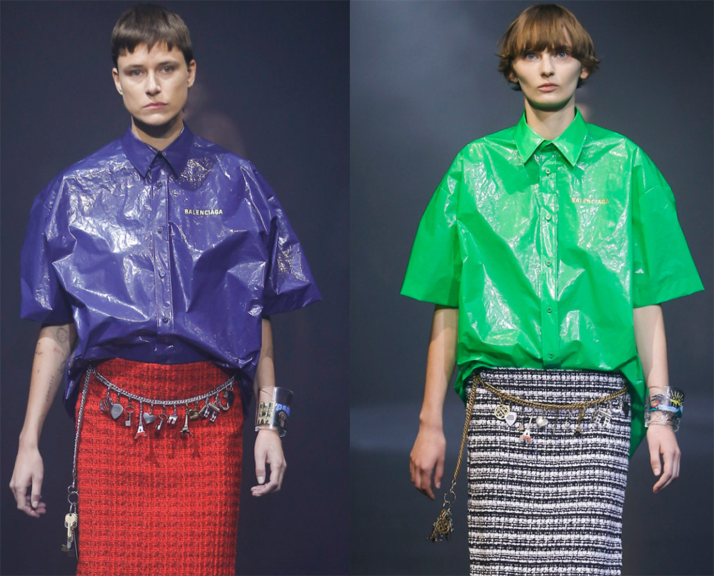 Платья и юбки из ПВХ – модная тенденция