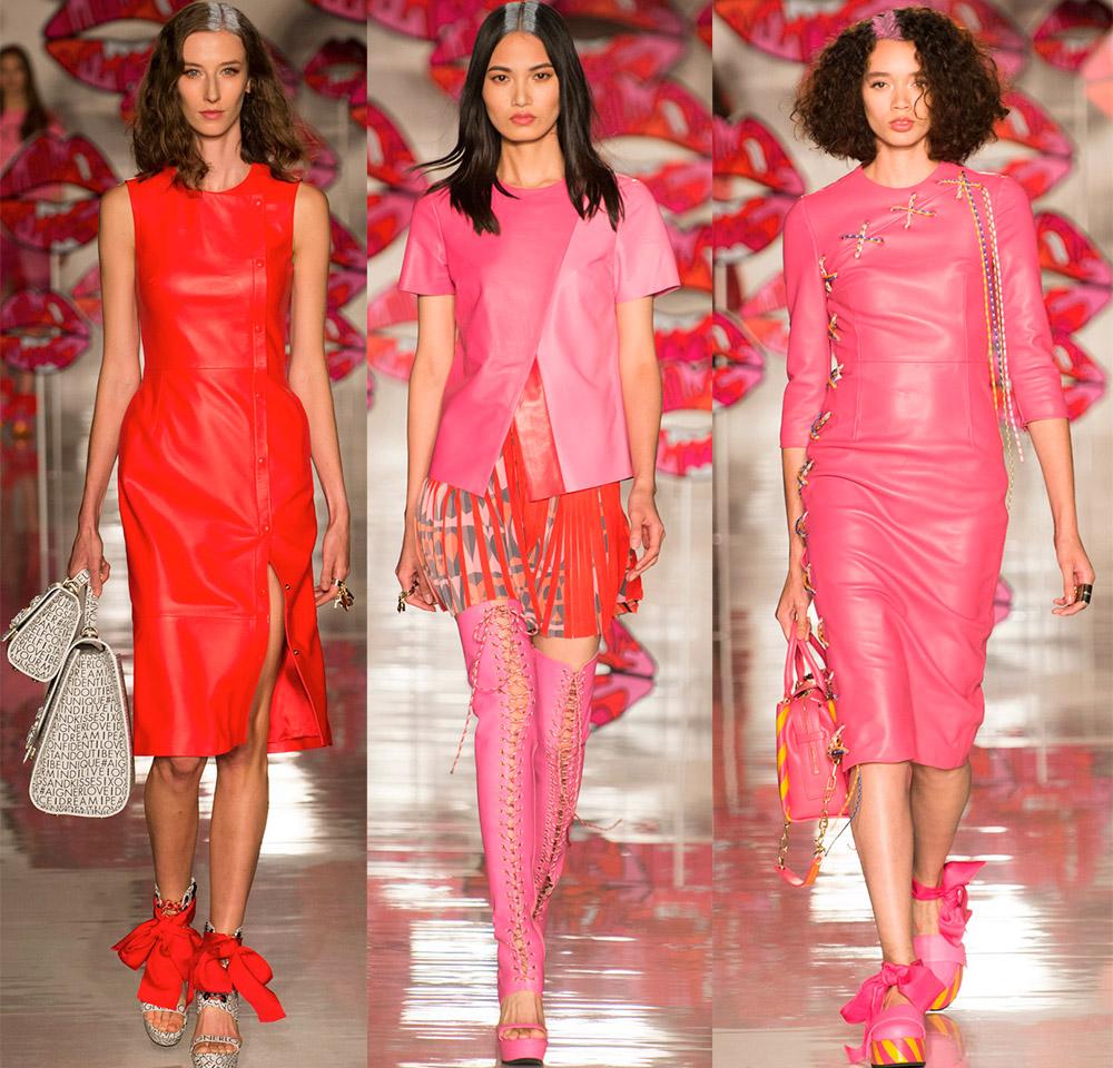 Кожаные платья, юбки и жакеты 2018