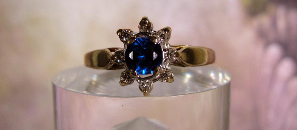 Кольцо с камнем гаюин