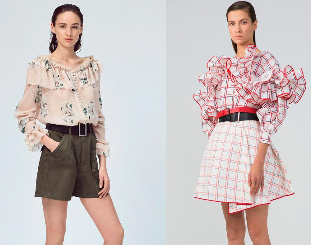 Блузки с коротким рукавом 2018 год модные