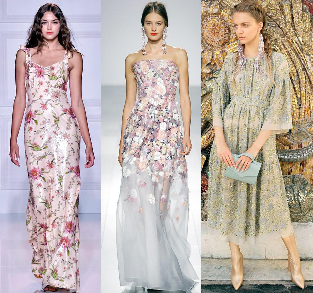 Вечерние платья в цветочек