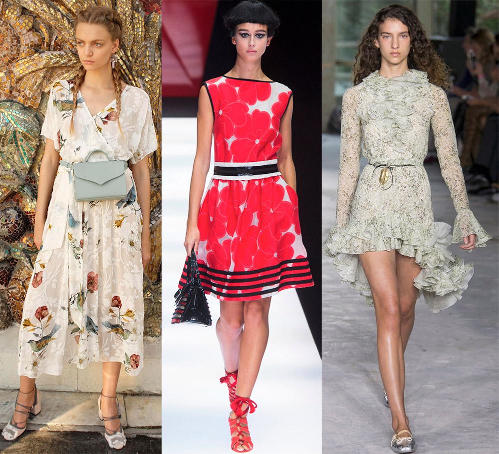 Красивые платья в цветочек