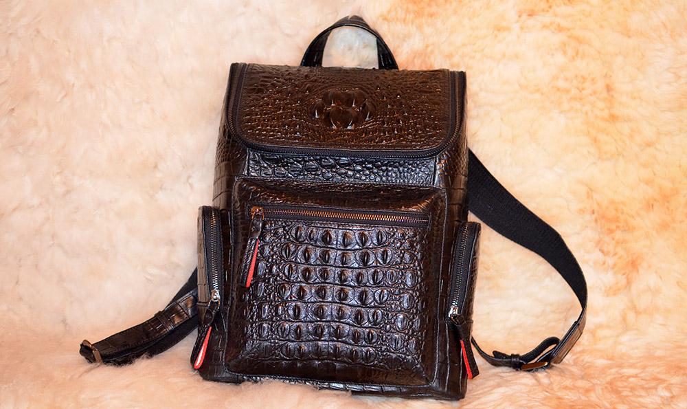 Мужской кожаный рюкзак