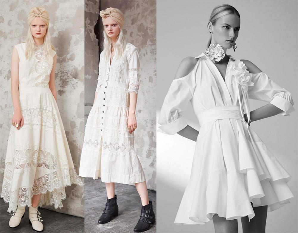 Белые платья на выпускной бал 2018