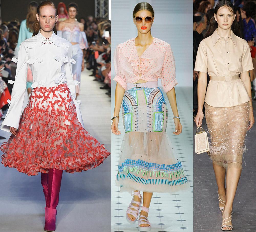 Прозрачные летние юбки 2018