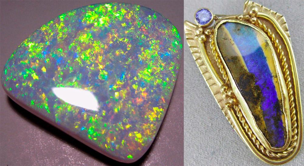Камень опал из Австралии