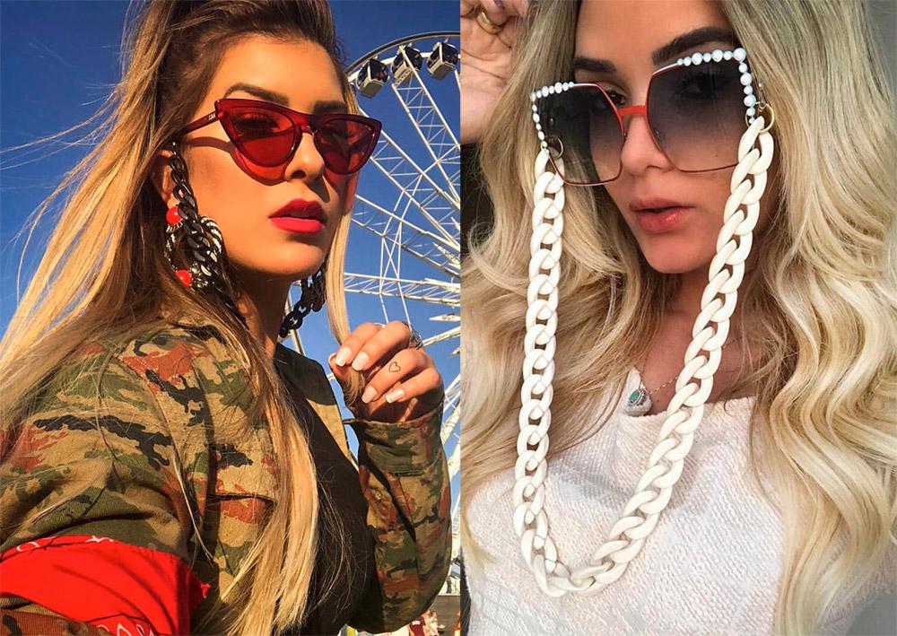Солнцезащитные очки на цепочке – модная тенденция