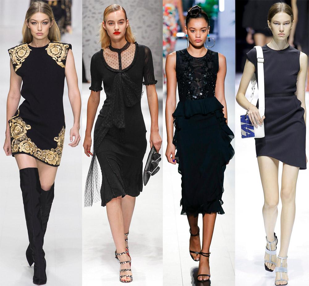 2b48088fe5162b5 Черные платья 2018 – лучшие короткие и длинные модели сезона