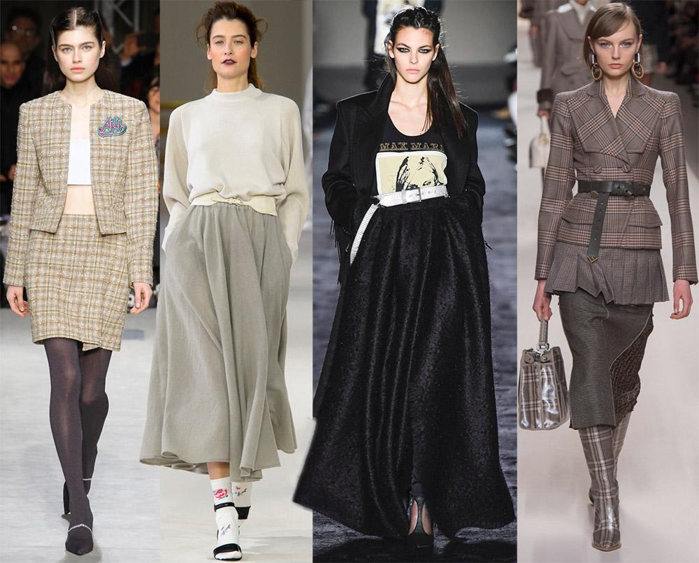 Теплые юбки на осень и зиму – лучшие модели
