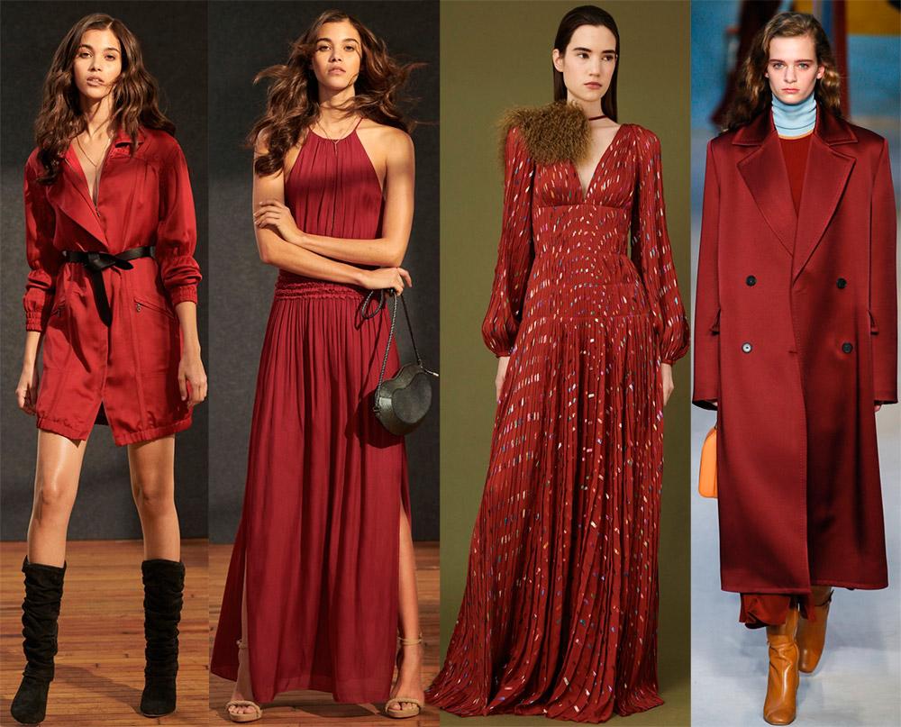 Модные цвета в одежде 2018-2019 года