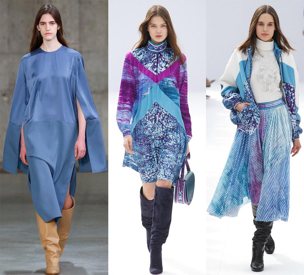 Модные оттенки осень-зима