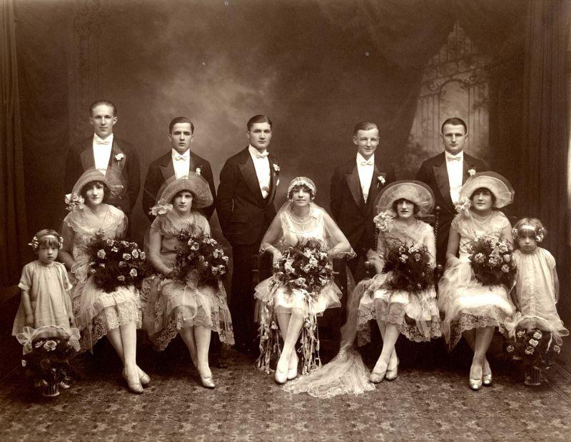 свадебное фото 1920 годов