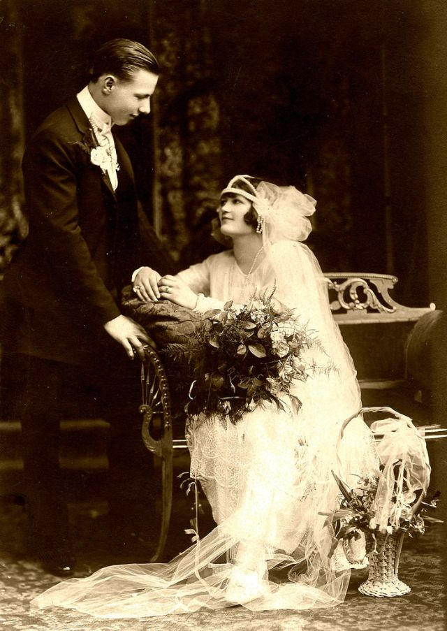 Свадьба в стиле 1920 и винтажные свадебные фото