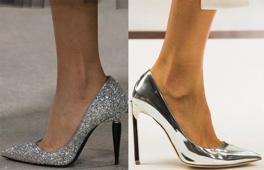 Блестящие модные туфли