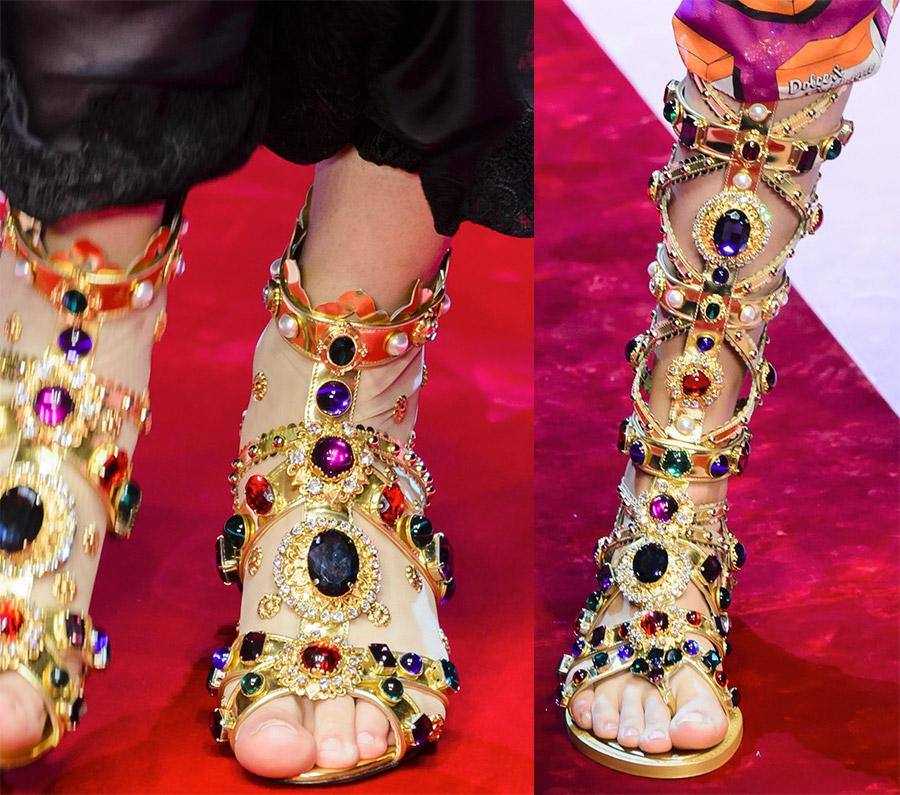 Sandaler gladiatorer og sandaler