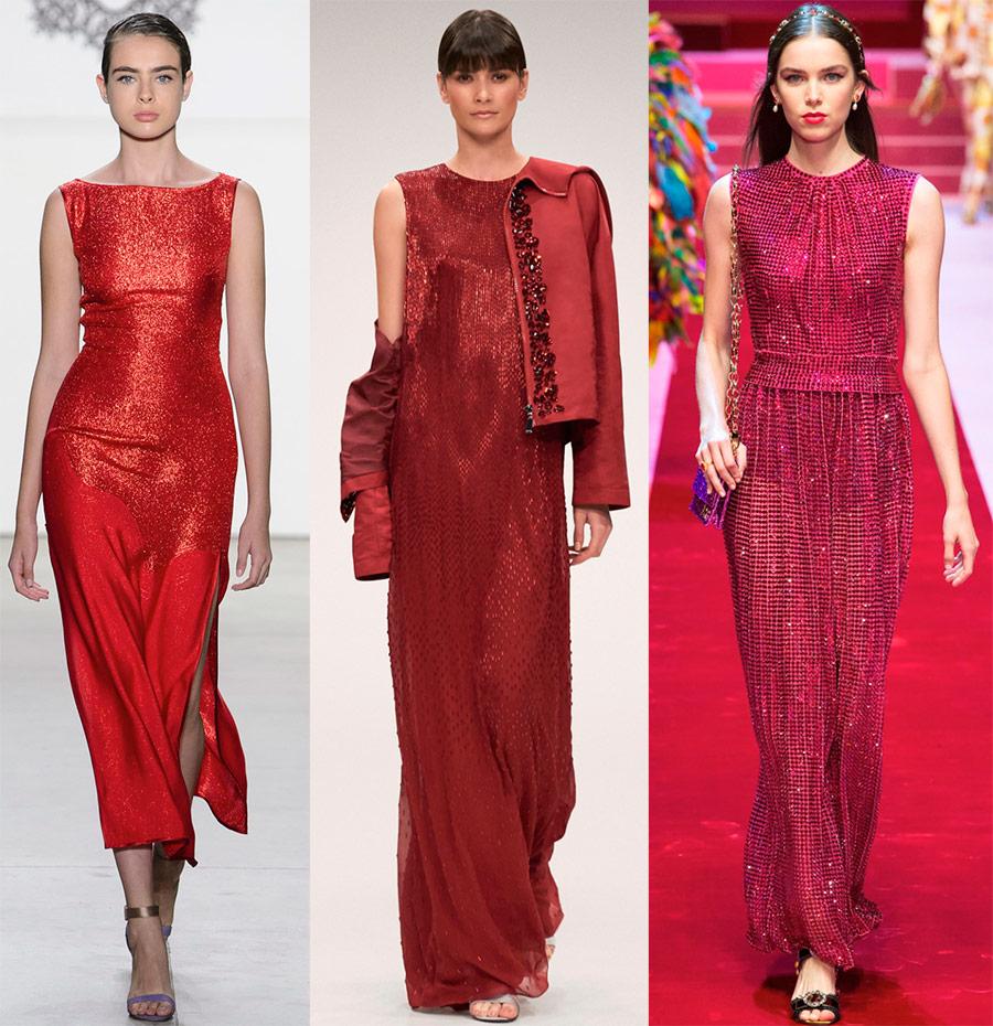Платья красных оттенков