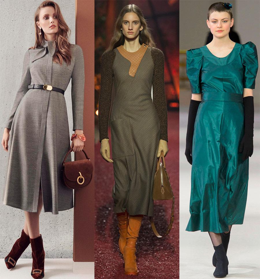 Платья холодного сезона