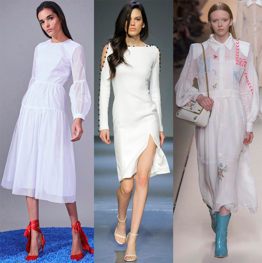 Robes blanches