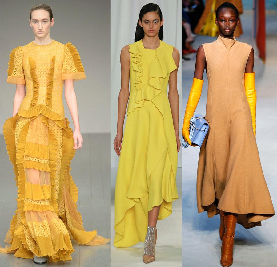 Robes jaunes