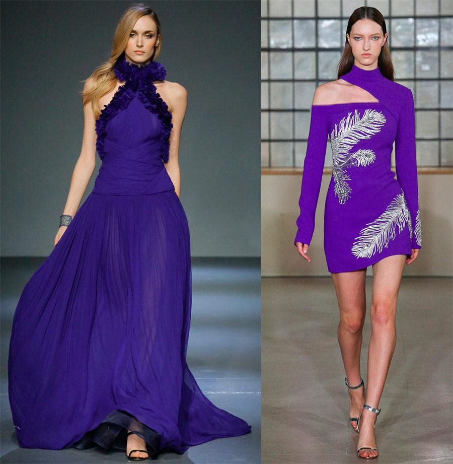 Роскошные фиолетовые платья