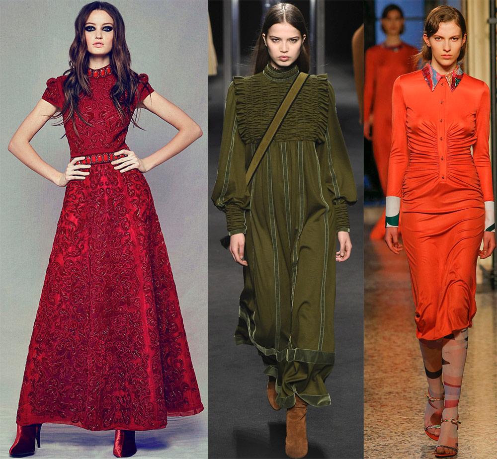 Модные тенденции платьев 2019