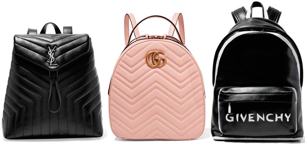 Модные кожаные рюкзаки