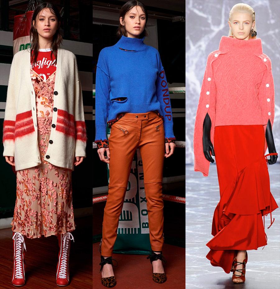 Модные женские свитера 2018-2019