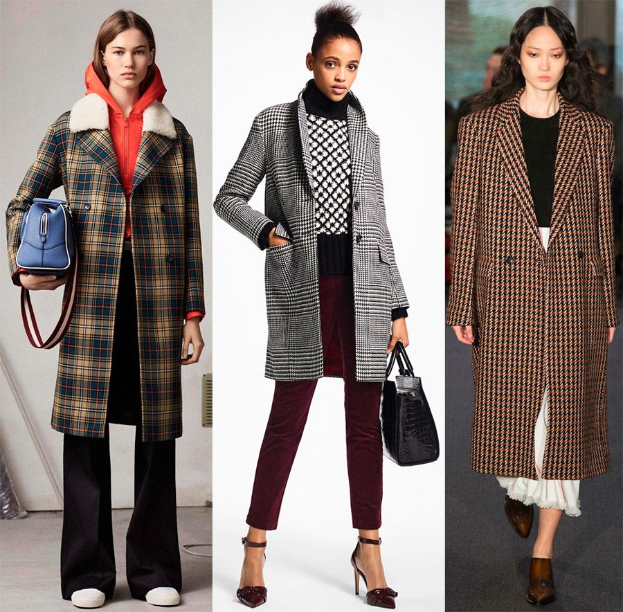 Пальто в клетку 2018-2019 – лучшие модели
