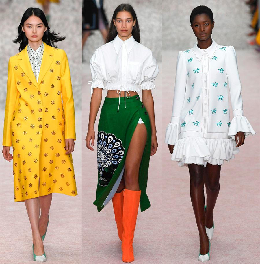 Женская одежда Carolina Herrera весна-лето 2019 в 2019 году