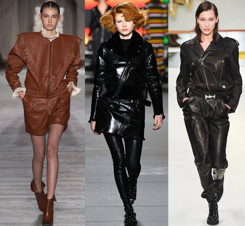 Qadınların dəri paltoları