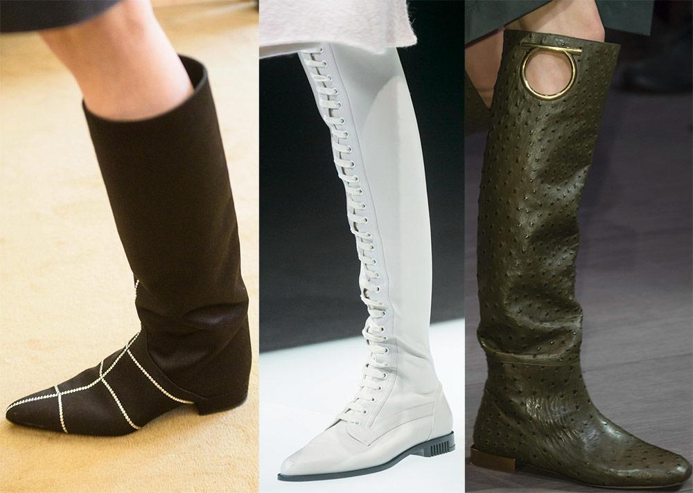 botas con tacones bajos