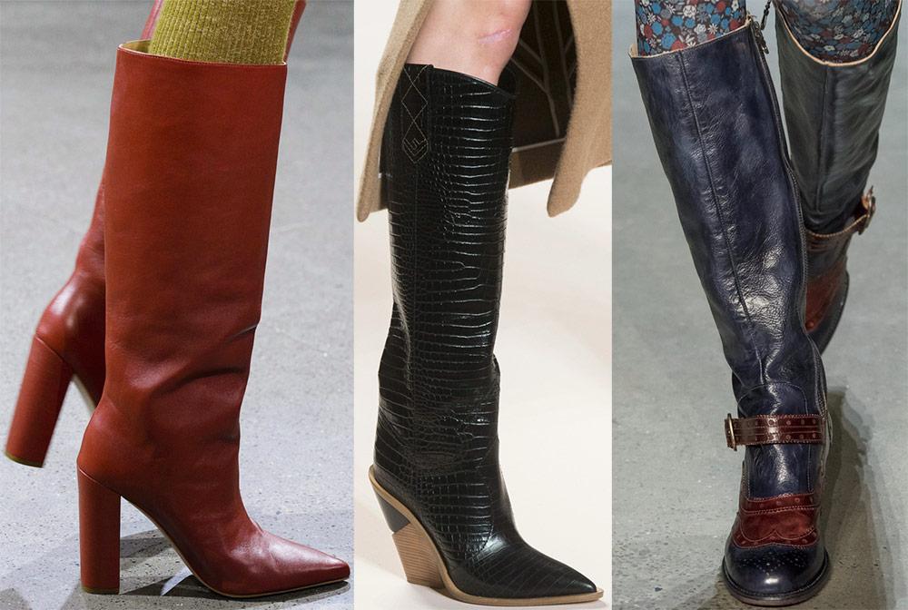 Выбираем модные женские сапоги сезона весна 2019 новые фото