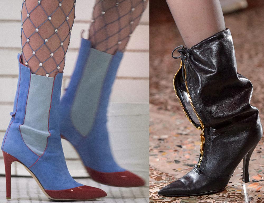 Botas de tacón de aguja de moda