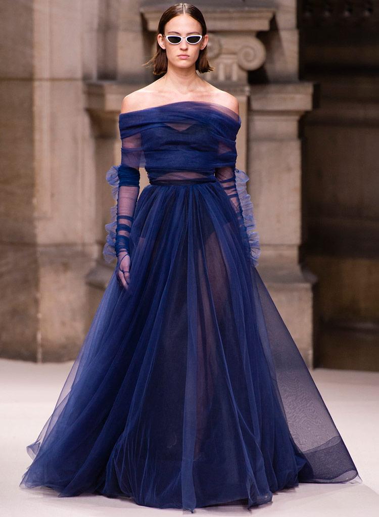 Самые роскошные платья синего цвета 2018-2019