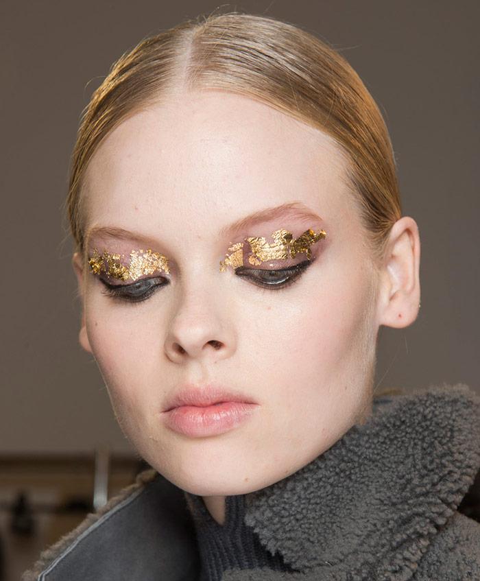 Как сделать макияж из сусального золота