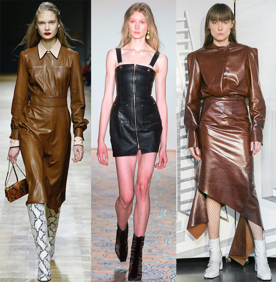 Модни кожени фустани