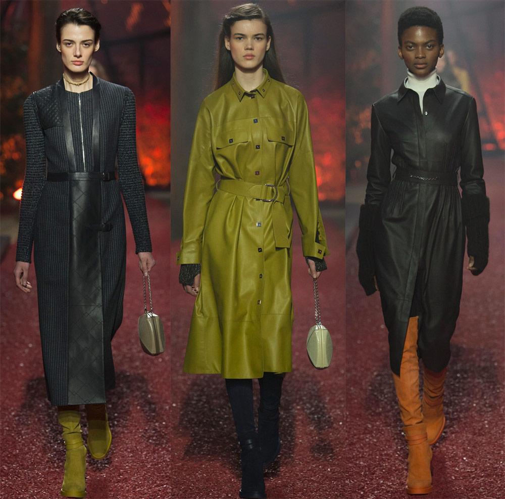 Кожни фустани и модели со кожни инсерти 18-19
