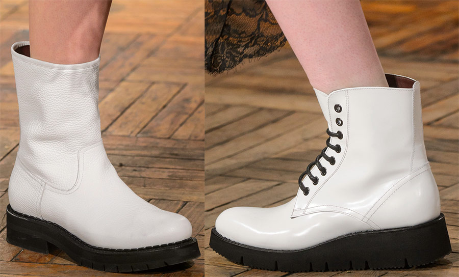 Белоснежная обувь на зиму 2018-2019