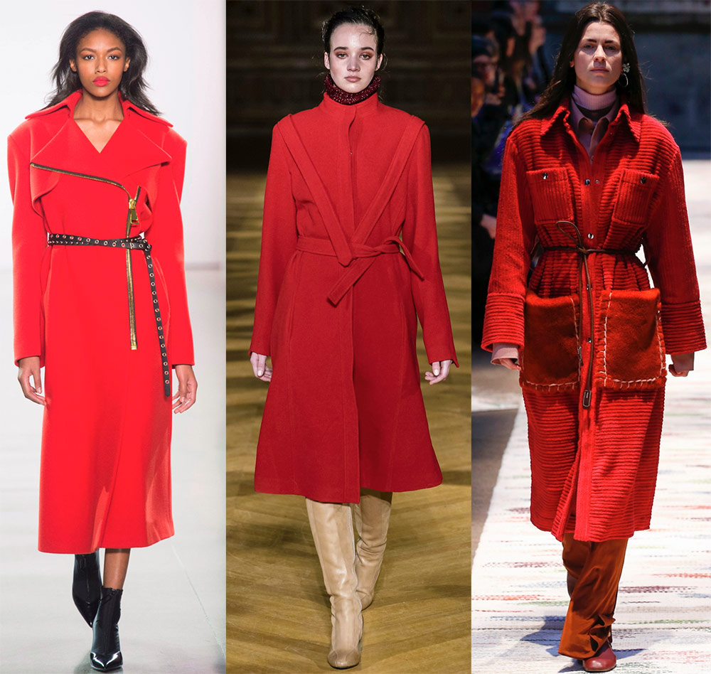 Manteau rouge à la mode
