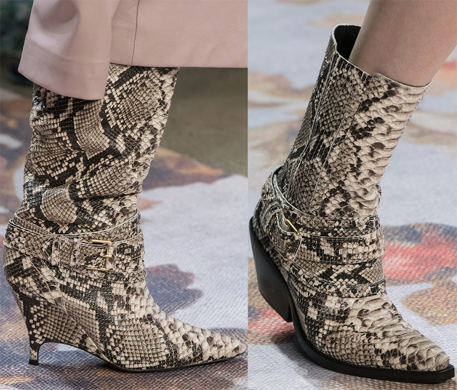 Модная обувь из питона
